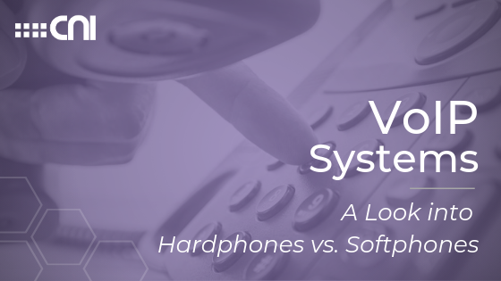 VoIP Systems A Look into Hardphones vs Softphones - Creative Network Innovations Blog Cover Image
